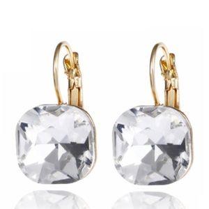 Kate Spade Gold & Crystal Drop Earrings
